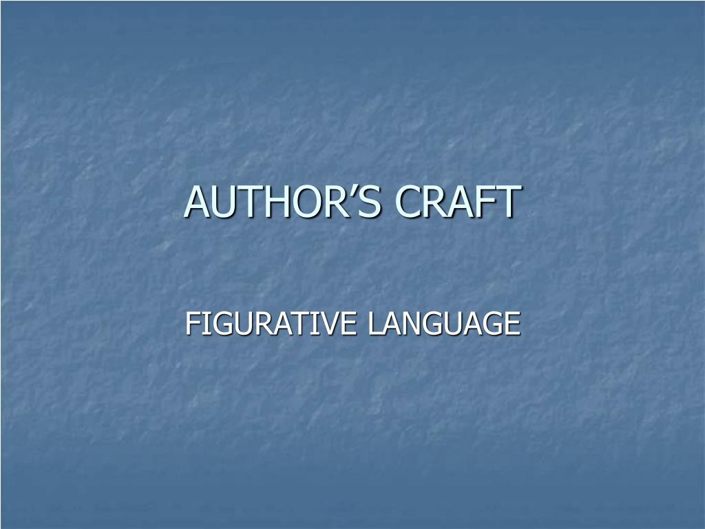author s craft l.