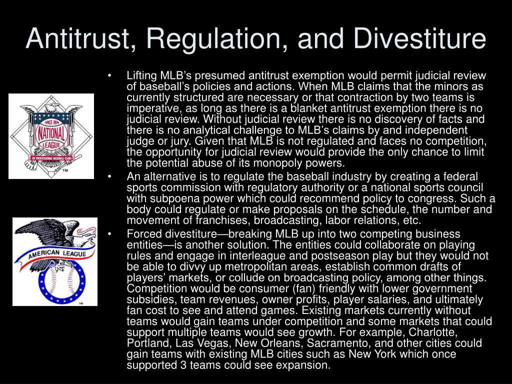 Antitrust, Regulation, and Divestiture