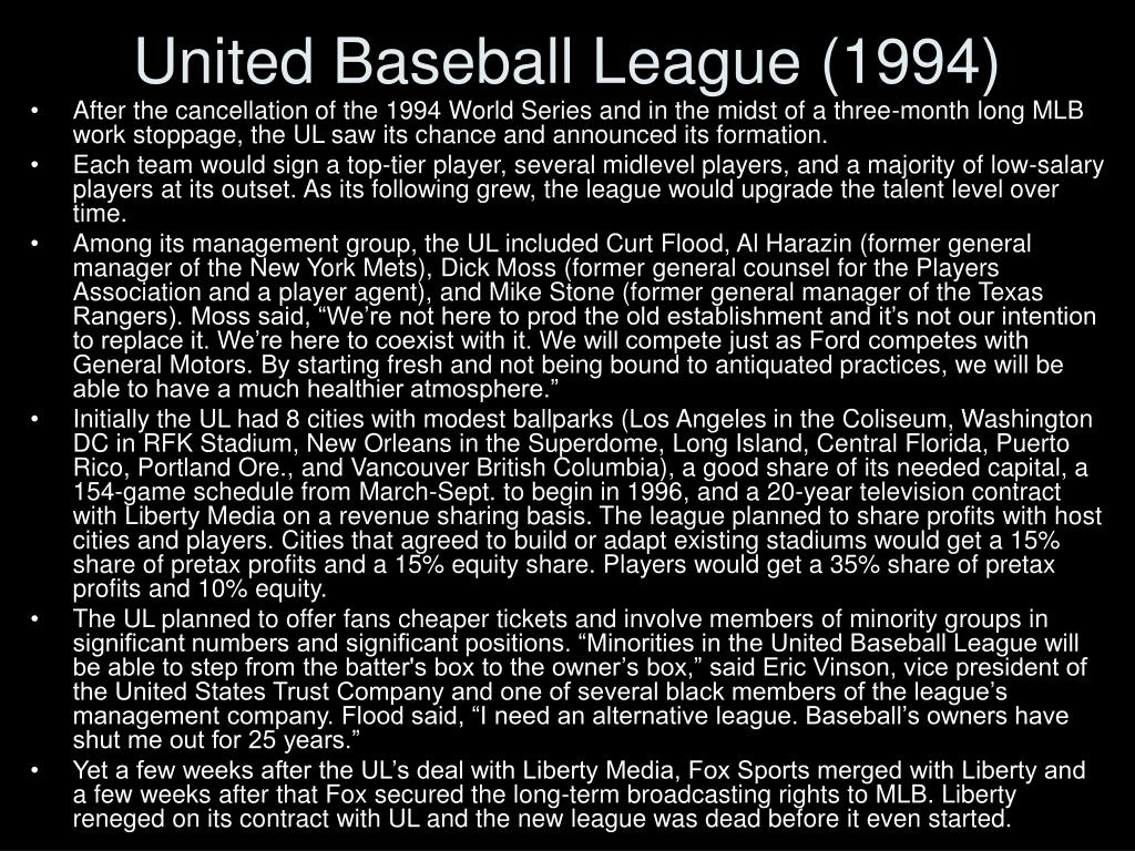 United Baseball League (1994)