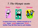 7 the olympic motto