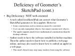 deficiency of geometer s sketchpad cont8