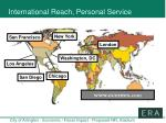 international reach personal service