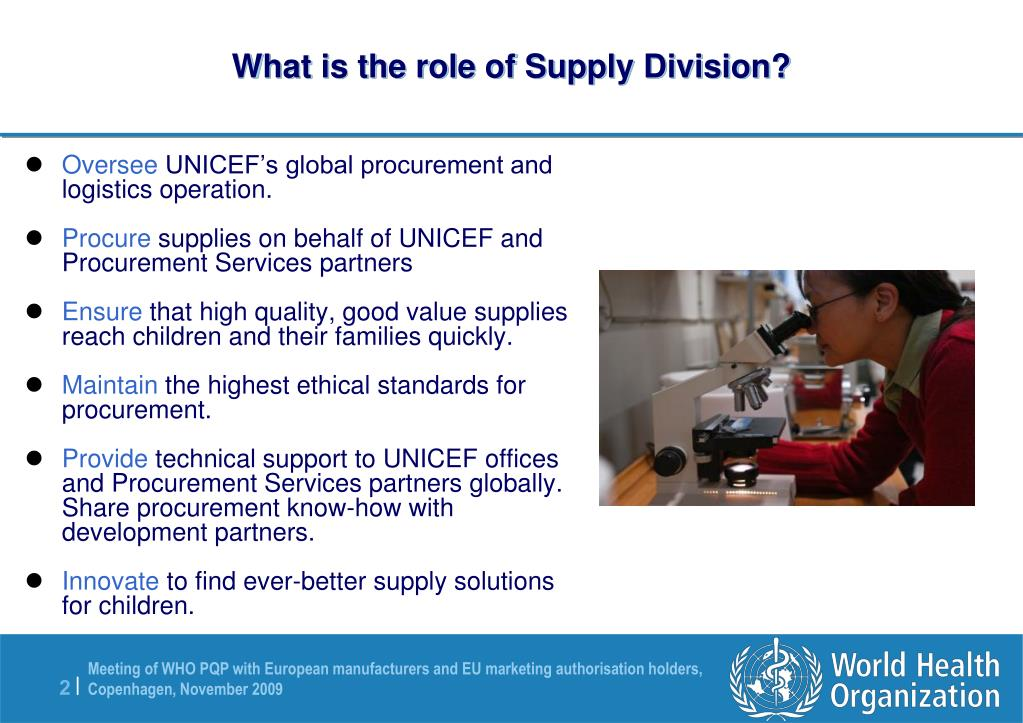 What is the role of Supply Division?