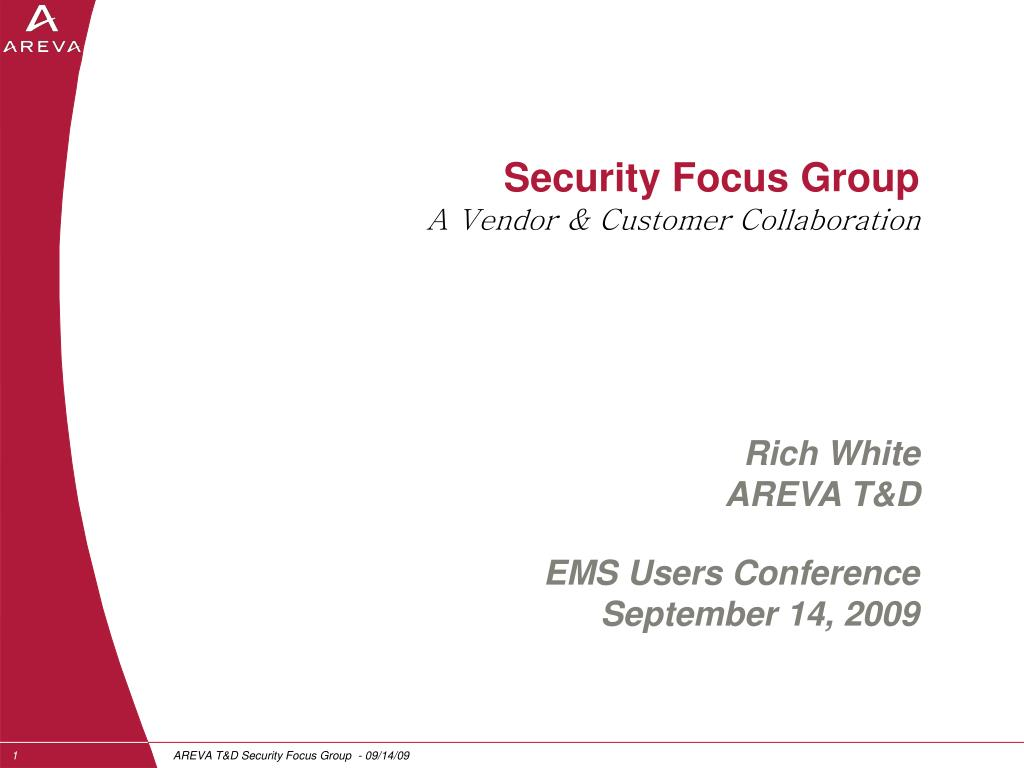 security focus group a vendor customer collaboration l.