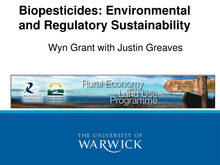 biopesticides environmental and regulatory sustainability n.