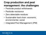 crop production and pest management the challenges