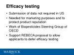 efficacy testing