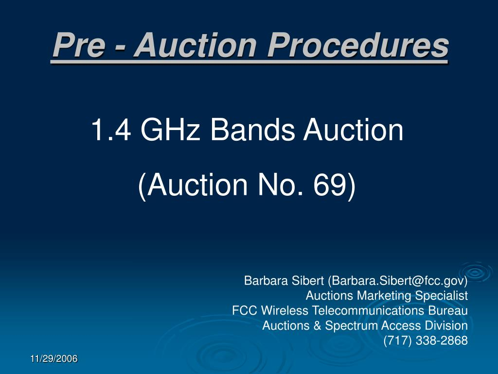 pre auction procedures l.
