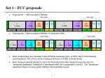 set 1 fcc proposals