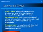 lessons and trends