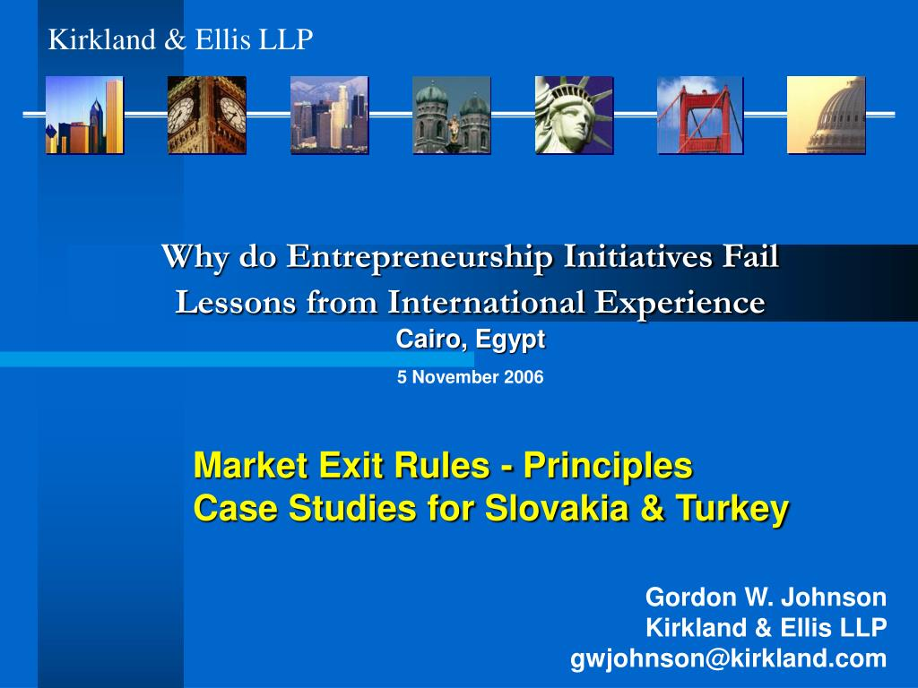 market exit rules principles case studies for slovakia turkey l.