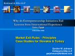 market exit rules principles case studies for slovakia turkey