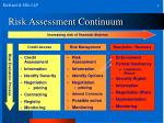 risk assessment continuum