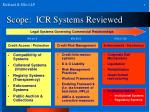 scope icr systems reviewed