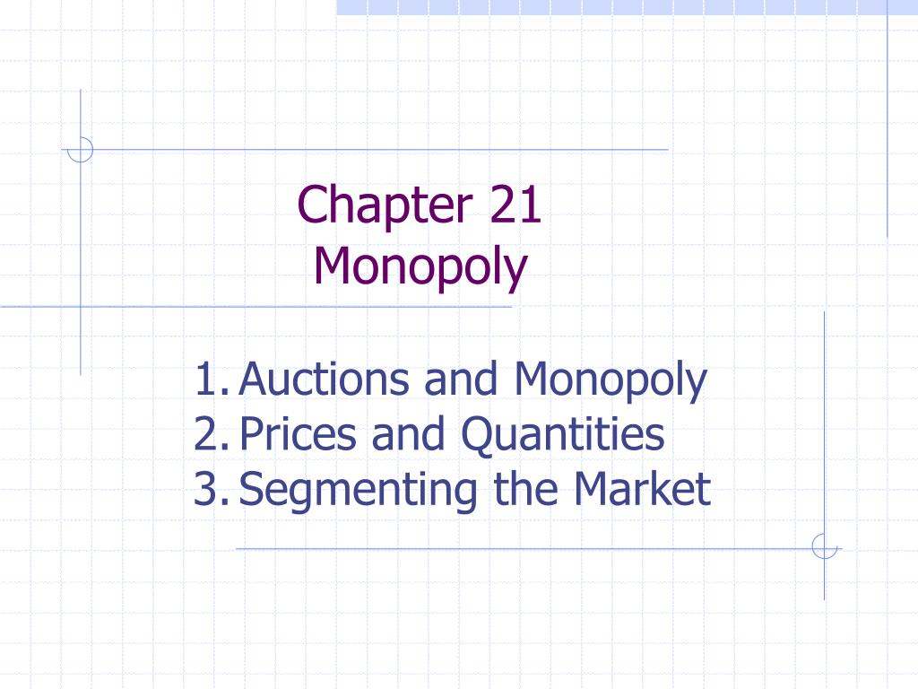 chapter 21 monopoly l.