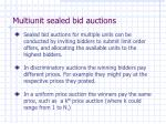 multiunit sealed bid auctions