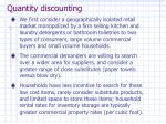 quantity discounting