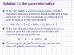 solution to the parameterization