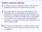 vickery auctions defined