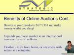 benefits of online auctions cont