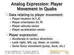 analog expression player movement in quake