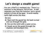 let s design a stealth game