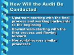 how will the audit be conducted