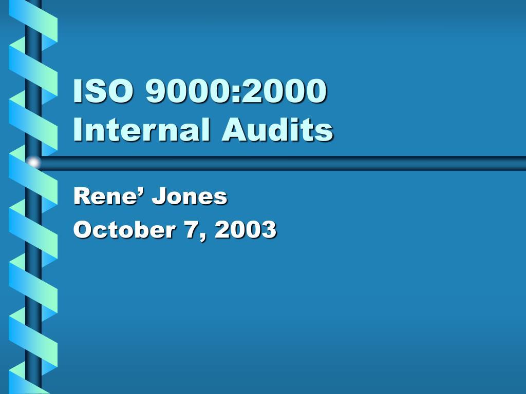 iso 9000 2000 internal audits l.