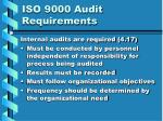iso 9000 audit requirements
