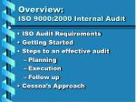 overview iso 9000 2000 internal audit