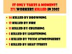 it only takes a moment 271 workers killed in 2002132