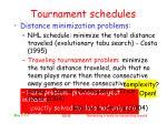 tournament schedules10