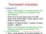 tournament schedules8