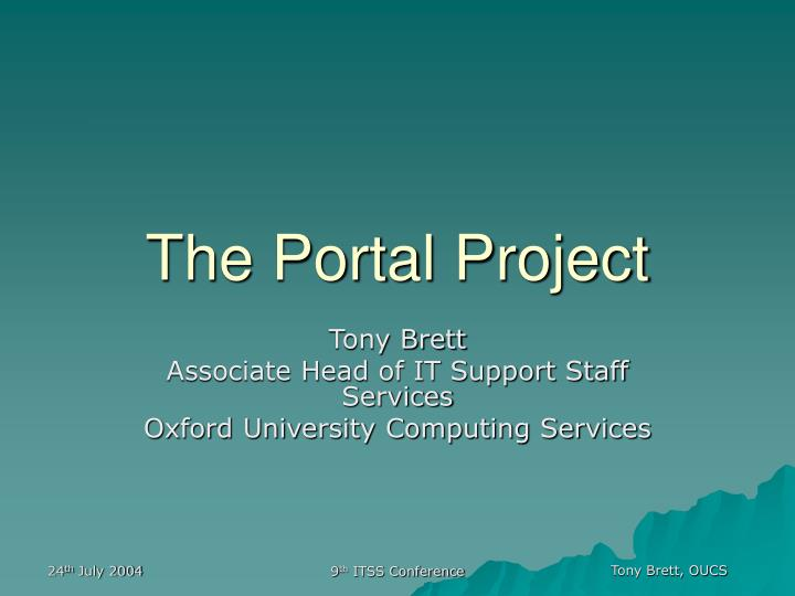 the portal project n.