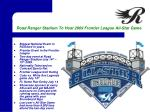 road ranger stadium to host 2009 frontier league all star game