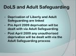 dols and adult safeguarding