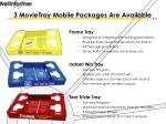 3 movietray mobile packages are available