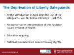 the deprivation of liberty safeguards2