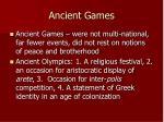 ancient games