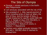 the site of olympia