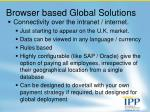 browser based global solutions