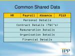 common shared data