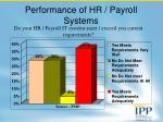 performance of hr payroll systems