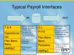 typical payroll interfaces