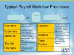 typical payroll workflow processes