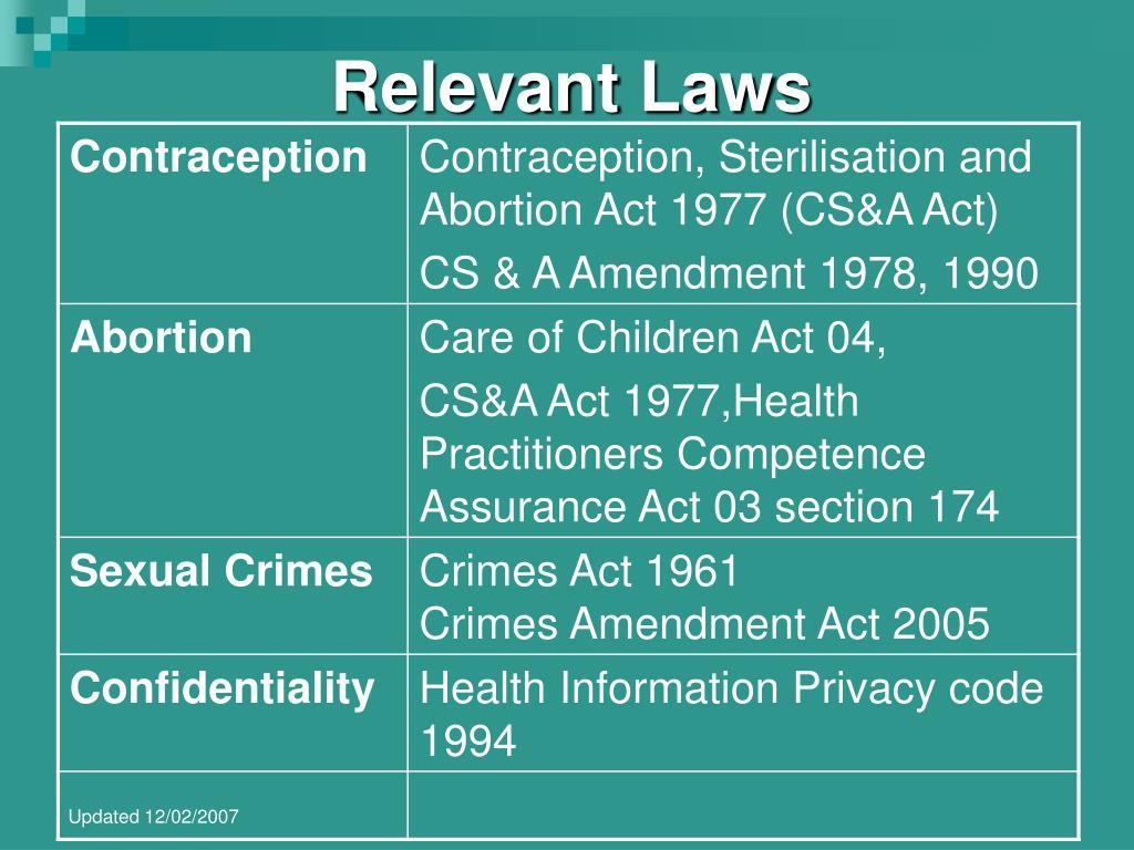 relevant laws l.