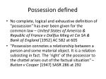 possession defined