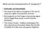 what are the characteristics of property17