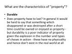 what are the characteristics of property18