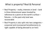what is property real personal
